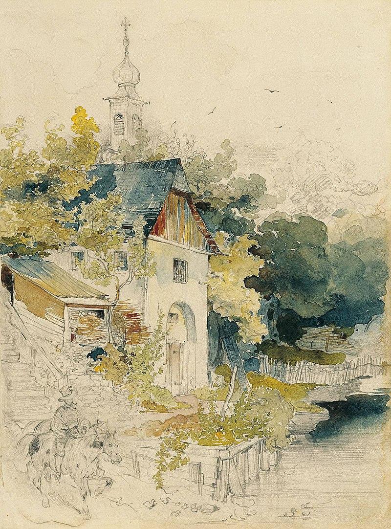 Дом на озере (Haus an einem See), автор Йозеф Хёгер.jpg