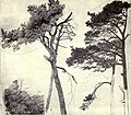 Hubert von Herkomer 1863 - Firs 'drawn from nature at the age of fourteen' (The Herkomers Vol.1).jpg
