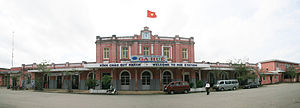 Huế railway station - The exterior of the station