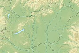 Situo de la ĉefurbo en Hungario