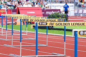 IAAF Golden League - Hurdles at the Bislett Games, one of the meets comprising the Golden League since 1998.
