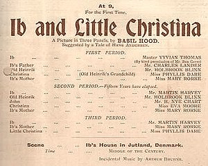 Ib and Little Christina - From the programme of the original production, 1900