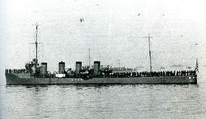Umikaze-class destroyer - Image: IJN Yamakaze at Ominato Taisho 1