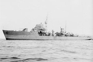 Ukuru-class escort ship - Image: IJN escort vessel UKU in 1944