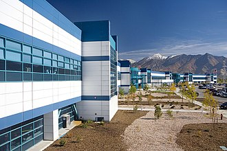 One out of every 14 flash memory chips in the world is produced in Lehi, Utah. IM Flash exterior-11.jpg