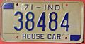 INDIANA 1971 -HOUSE CAR LICENSE PLATE - Flickr - woody1778a.jpg