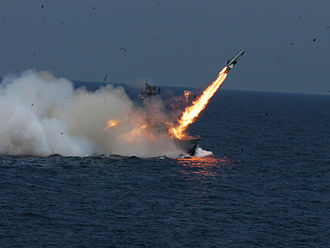 P-15 Termit - INS Chamak (K95) of the Indian Navy fires a P-15 Termit missile