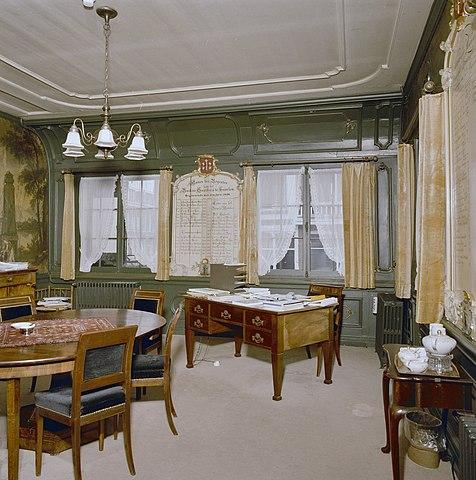 File interieur overzicht regentenkamer wandbespanning for Interieur wikipedia