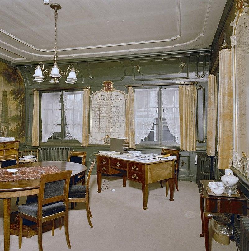 interieur overzicht regentenkamer wandbespanning haarlem 20282913 rce