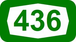 סמל כביש 436