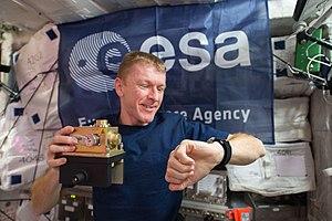 Tim Peake -  Peake working in the Columbus module