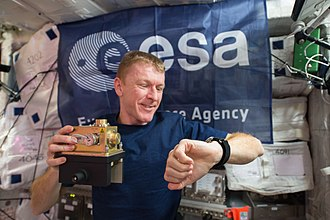 Tim Peake -  Peake working in the Columbus module
