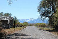 The roadway through Ibapah, September 2007