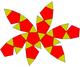 Icosidodecahedron flat