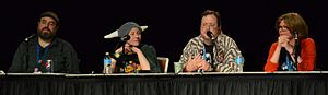 My Little Pony (IDW Publishing) - Image: Idw mlpfim artists panel 2014 bronycon cropped
