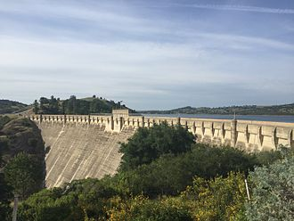 Pardee Dam - View of the Pardee Dam from downstream.