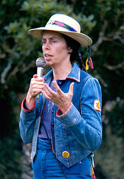 Ina May Gaskin lecture at the Nambassa 3 day Music & Alternatives festival, New Zealand 1981. Photographer Michael Bennetts.jpg