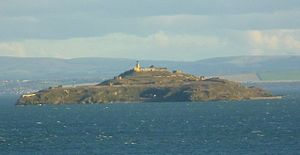 Inchkeith - Inchkeith from Kinghorn, Fife