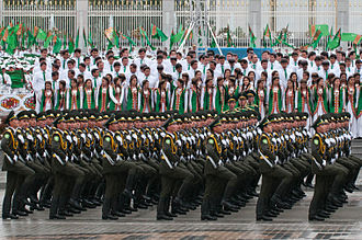 Independence Day (Turkmenistan) - Military parade in Ashgabat