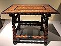 India Goa 17th C - table in teak ivory ebony rosewood IMG 9499 Museum of Asian Civilisation.jpg