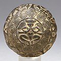 Indian Stone Sphere with Scenes of Rites at the Shrine of a Yaksha, 3rd century BC.jpg