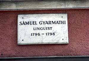 Sámuel Gyarmathi - A plaque in Göttingen