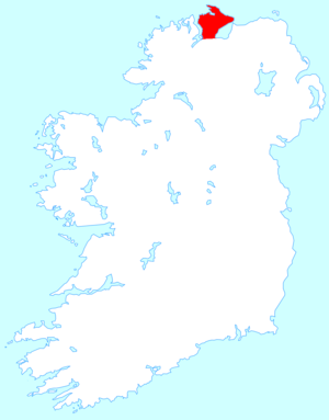 Inishowen - Location of Inishowen (in red)