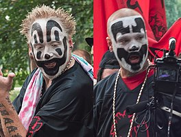 Violent J (left) and Shaggy 2 Dope (right) in 2017