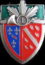 150px-Insigne_du_1er_regt_de_Chasseurs.p