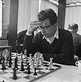 Interfide schaaktoernooi in GAK gebouw, Pal Benko (VS), Bestanddeelnr 916-4585.jpg