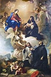Interior of Chiesa dei Gesuiti (Venice) - a Vergine e i santi Stanislao Kostka, Luigi Gonzaga et Francesco Borgia - Antonio Balestra.jpg