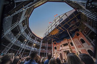 Pop-up Globe - Performance of Much Ado About Nothing by the Pop-up Globe Queen's Company at Pop-up Globe Auckland, May 2017