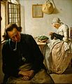 Interior with a Sleeping Man and a Woman Darning Socks by Wybrand Hendriks.jpg