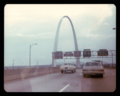 Interstate 70 East approaches Exit 250B, Memorial Drive, Downtown exit (1979).png