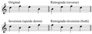 Post-tonal music theory - Image: Inversions