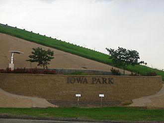 Iowa Park, Texas - Entrance to Iowa Park