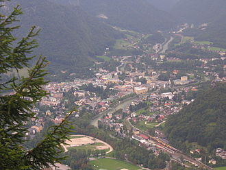 Bad Ischl - Image: Ischl from the Katrin