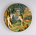 Italian - Plate with Apollo and Daphne - Walters 481486.jpg
