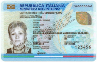 Italian electronic identity card identification document issued by the Italian Republic