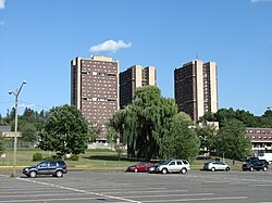 J.Q. Adams Hall, J. Adams Hall and Washington Hall, UMass Amherst, Amherst MA.jpg