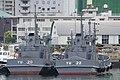 JMSDF YW-20 & YW-22 right behind view at Kure Naval Base May 6, 2018.jpg