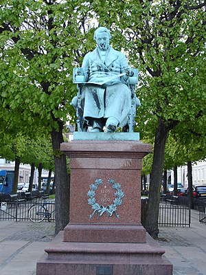Johan Peter Emilius Hartmann - J. P. E. Hartmann by August Saabye 1905, Sankt Annæ Plads, Copenhagen
