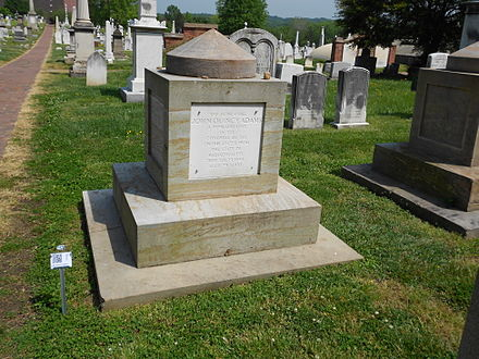 Adams's cenotaph at the Congressional Cemetery JQAdams QRc CC.JPG