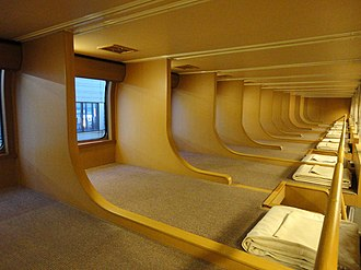 285 series - Image: JRW series 285 'Nobinobi Seat' (Upper section)