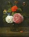 Jacob van Es-Bouquet de roses avec papillons et insectes.jpg