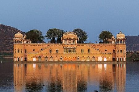 Jaipur/India: The Water Palace at evening