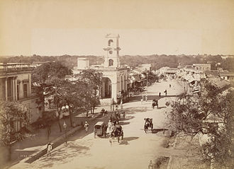 Secunderabad - James street circa 1880, an important shopping district in Secunderabad