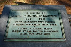 Morrow Mountain State Park - James McKnight Morrow plaque