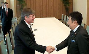 Yukio Edano - with James Steinberg (27 January 2011)