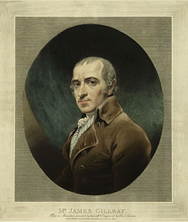 James Gillray English caricaturist and printmaker